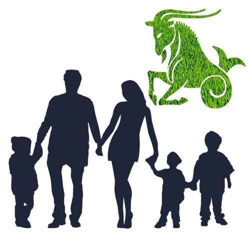 zodia capricorn familie